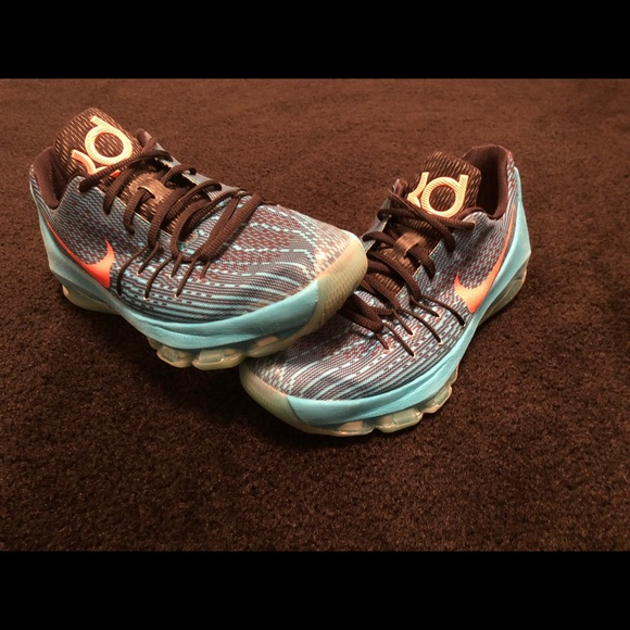 Nike KD 8 Kevin Durant Blue Lagoon Shoes Size 7Y. M 5c14e1649fe486f2938e59c2 c5436bcd8